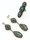 Estate Jewelry:Suites, Turquoise, Silver Jewelry Suite. ... (Total: 2 Items)