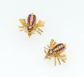 Estate Jewelry:Brooches - Pins, Diamond, Ruby, Gold Brooches. ... (Total: 2 Items)