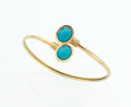 Estate Jewelry:Bracelets, Turquoise, Gold Bracelet. ...