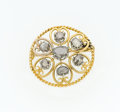 Estate Jewelry:Brooches - Pins, Diamond, Silver, Gold Brooch. ...
