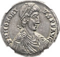 Ancients:Roman Imperial, Ancients: Honorius, Western Roman Emperor (AD 393-423). AR medallion of 6 siliquae (35mm, 13.42 gm, 6h). ...