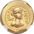 Ancients:Roman Republic, Ancients: Julius Caesar as Dictator (49-44 BC). AV aureus (22mm,8.12 gm, 10h)....