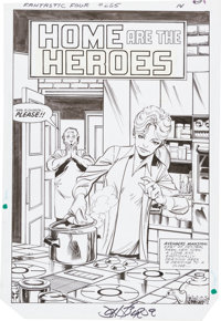 John Byrne Fantastic Four #265 Splash Page 12 Original Art (Marvel, 1984)