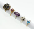 Estate Jewelry:Rings, Multi-Stone Gold Ring Lot. ... (Total: 5 Items)