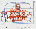 Animation Art:Production Drawing, The Simpsons Ned Flanders and Sons Animation ProductionLayout Drawing Original Art (Fox, c. 1990s)....