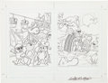 Original Comic Art:Covers, Nate Butler Rocky and Bullwinkle Formula for TroubleActivity Book Front and Back Cover Original Art (Marvel Books...