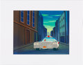 Animation Art:Production Cel, The Real Ghostbusters Animation Production Cel andBackground Original Art (DIC Entertainment, 1986)....