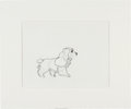 Animation Art:Production Drawing, Lady and the Tramp Lady Animation Production DrawingOriginal Art (Walt Disney, 1955)....