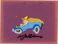 Animation Art:Production Cel, Porky and Teabiscuit Porky Pig Animation Production CelOriginal Art Signed by Mel Blanc (Warner Brothers, 1968)....