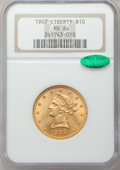 Liberty Eagles: , 1907 $10 MS64 NGC. CAC. NGC Census: (1071/89). PCGS Population(654/24). Mintage: 1,203,973. Numismedia Wsl. Price for prob...
