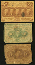 Fractional Currency:First Issue, A Trio of First Issue Fractional Notes.. ... (Total: 3 notes)