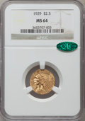 Indian Quarter Eagles: , 1929 $2 1/2 MS64 NGC. CAC. NGC Census: (2750/230). PCGS Population(1612/134). Mintage: 532,000. Numismedia Wsl. Price for ...