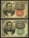 Fractional Currency:Fifth Issue, Fr. 1264 10¢ Fifth Issue Very Fine;. Fr. 1265 10¢ Fifth IssueFine-Very Fine.. ... (Total: 2 notes)