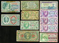Military Payment Certificates:Series 641, Series 611; 641; 661; 681; and 692 MPCs Very Good or Better.. ...(Total: 11 notes)