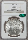 Morgan Dollars: , 1886 $1 MS66+ NGC. CAC. NGC Census: (4918/898). PCGS Population(2531/307). Mintage: 19,963,886. Numismedia Wsl. Price for ...