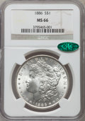 Morgan Dollars: , 1886 $1 MS66 NGC. CAC. NGC Census: (4918/898). PCGS Population(2531/307). Mintage: 19,963,886. Numismedia Wsl. Price for p...