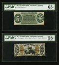 Fractional Currency:Third Issue, Fr. 1343SP 50¢ Third Issue Justice Narrow Margin Pair.. ... (Total: 2 notes)