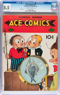 Ace Comics #25 (David McKay Publications, 1939) CGC VF+ 8.5 Off-white to white pages
