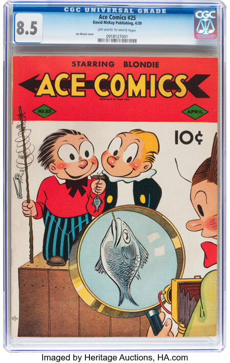 Ace Comics #25 (David McKay Publications, 1939) CGC VF+ 8.5 Off-white to white pages....