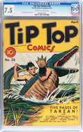 Golden Age (1938-1955):Miscellaneous, Tip Top Comics #36 (United Features Syndicate/Standard, 1939) CGC VF- 7.5 Off-white to white pages....