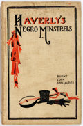 Books:Non-fiction, Jack Haverly. Negro Minstrels. Chicago: Frederick K. Drake, 1903. Early edition. Octavo. 129 pages. Illustrated fron...