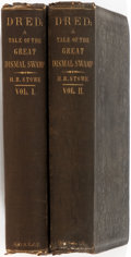 Books:Literature Pre-1900, Harriet Beecher Stowe. Dred; a Tale of the Great Dismal Swamp. Boston: Phillips, Sampson and Company, 1856. First ed... (Total: 2 Items)