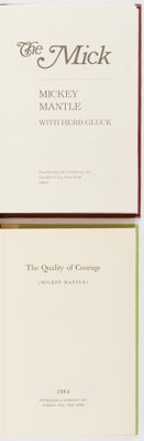 [Mickey Mantle]. INSCRIBED. Group of Two Books by Mickey Mantle. Includes The Mick, hand numbered limited