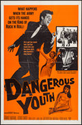 "Movie Posters:Rock and Roll, Dangerous Youth (Warner Brothers, 1958). One Sheet (27"" X 41"").Rock and Roll.. ..."