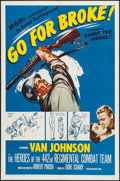 """Movie Posters:War, Go for Broke! (MGM, R-1962). One Sheet (27"""" X 41""""). War.. ..."""