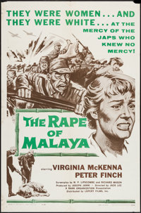 "A Town Like Alice (Lopart, R-1959). One Sheet (27"" X 41"") Alternate Title: The Rape of Malaya. War"