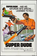 "Movie Posters:Blaxploitation, Super Dude (Dimension, 1975). One Sheet (27"" X 41"").Blaxploitation.. ..."