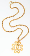 Luxury Accessories:Accessories, Chanel Gold CC Flower Necklace. ...
