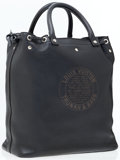 Luxury Accessories:Accessories, Louis Vuitton Black Leather Limited Edition Stamped Tote. ...