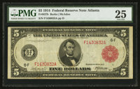 Fr. 837b $5 1914 Red Seal Federal Reserve Note PMG Very Fine 25