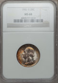 Washington Quarters, 1951-S 25C MS68 NGC....