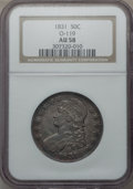Bust Half Dollars: , 1831 50C AU58 NGC. O-119. NGC Census: (348/464). PCGS Population(232/470). Mintage: 5,873,660. Numismedia Wsl. Price for ...
