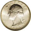 Washington Quarters: , 1932-S 25C MS65 NGC. This lovely Gem is sharply struck, and hasfully natural frosty surfaces with light toning on each sid...