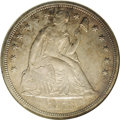 Seated Dollars: , 1873-CC $1 MS61 NGC. Mint State examples of this date are extremelyrare and highly desirable...
