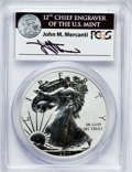 Modern Bullion Coins, 2011-P $1 Reverse Proof Silver Eagle, 25th Anniversary Set, PR69PCGS. Ex: Signature of John M. Mercanti, 12th Chief Engrav...