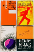 Books:Literature 1900-up, Henry Miller. INSCRIBED. Lot of Four Foreign Language Titles.Includes Quiet Days in Clichy, Plexus, and A Henry Miller Read...(Total: 4 Items)
