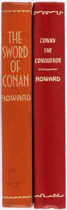 Books:Science Fiction & Fantasy, Robert E. Howard. Two Gnome Press First Editions, First Printings in Library Bindings. Both appear to be ex-library, one sta... (Total: 2 Items)