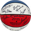 Basketball Collectibles:Balls, Indiana Pacers Multi Signed ABA Reunion Basketball....