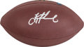 Football Collectibles:Balls, Troy Aikman Signed Football....