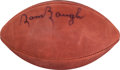 Football Collectibles:Balls, Sammy Baugh Signed Leather NFL Wilson Football....