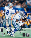 Football Collectibles:Photos, Troy Aikman and Emmitt Smith Dual Signed Photograph....