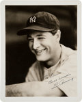 Autographs:Photos, Late 1920's Lou Gehrig Signed Photograph by George Burke....