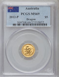 Australia: , 2012-P G$5 Year of the Dragon MS69 PCGS. PCGS Population (523/0).NGC Census: (492/1024)....