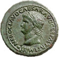 Ancients:Roman Imperial, Ancients: Nero (AD 54-68). Orichalcum sestertius (37mm, 30.47 gm, 7h). ...