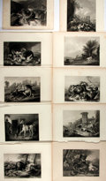 """Books:Prints & Leaves, [Antique Illustration] Lot of Ten Engraved Illustrations FeaturingAnimals. 11"""" x 8.25"""". Removed from a larger volume. Very ..."""