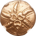 Ancients:Celtic, Ancients: BRITAIN. Catuvellauni & Trinovantes. Addedomaros (ca.40-30 BC). AV stater (18mm, 5.53 gm, 1h). ...